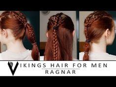▶ Vikings Hair Tutorial for Men - Ragnar Lodbrok - YouTube