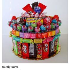 Cake Decorating Ideas With Lollies : Lolly Cake on Pinterest Cakes, Sweets and Birthday Cakes