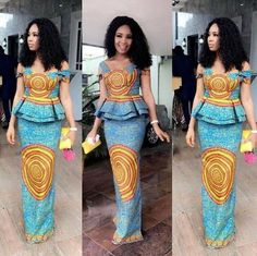 African women clothing/ African dress for prom/ African print for weddings/ African fashion outfit/A African Print Dresses, African Print Fashion, African Fashion Dresses, African Dress, African Prints, Africa Fashion, African Outfits, Ghanaian Fashion, Ankara Fashion