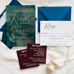 Lake Tahoe wedding invitation suite with warm watercolor tones and copper foil Lake Tahoe Weddings, Paper Companies, Wedding Invitation Suite, Happy Saturday, Newlyweds, Special Day, Real Life, Custom Design, Copper