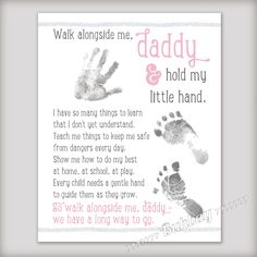 Walk Alongside Me Daddy 8x10 Printable Art INSTANT