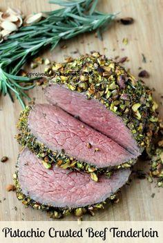 Pistachio Crusted Beef Tenderloin