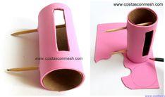 Base para celular reciclando tubos de papel higiénico ~ cositasconmesh