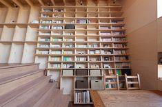 This Modern Home has a Climbable, Ladder-less Bookshelf