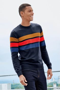 Versace Men, Mens Jumpers, Latest Mens Fashion, Knit Jacket, Sport Casual, Sport T Shirt, Neck T Shirt, Casual Shirts, Boy Outfits