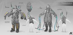 Production sketches by Adam Kuczek, via Behance