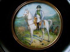 Antique Miniature Portrait Painting OF Napoléon  #Miniature