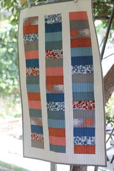 Fat Quarter Quilt - baby clothes' blocks