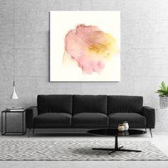 "Large Abstract Painting, Canvas Art, Giclee print, Wall Art, Modern purple, pink, magenta, yellow ""Litmus No. 15"""