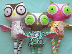 Owl dolls from Cocomia on Etsy.