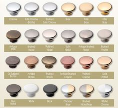 Color Chart Brushed Nickel Polished Nickel Kitchen