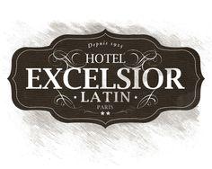 Excelsior hotel branding #typography #branding
