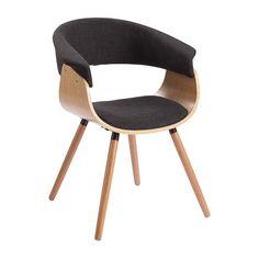 RUNNER spisebordstol i sort, samt egetræsben.  Farve: Sort og naturtræ  Materiale: Ben i egetræ, sæde/ryg i polyester.     Mål: