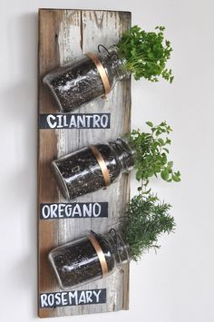 Another take on mason jar herb garden http://media-cache9.pinterest.com/upload/243335186086493111_u8VCX0Il_f.jpg http://bit.ly/Htuyzo ajb78 inspiration for our home