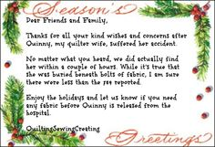 Fantasy Quilter Holiday cards that would be fun to get | Quilting Sewing Creating