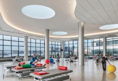 therapy gym at Spaulding Rehab by Perking + Will