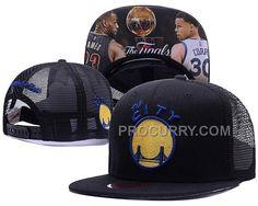 d7aacf46ea610 Warriors Team Logo The Finals Portrait Black Adjustable Hat SD2 Discount