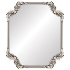 Buy Ornate Antique 19-Inch x 22-Inch Wall Mirror in Silver from Bed Bath & Beyond