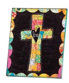 Colorful Devotions Love Cross Wall Art - NuMercy.com