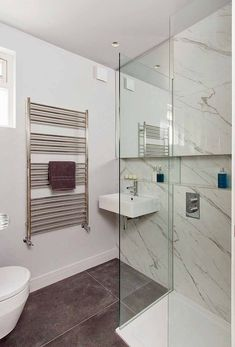 Porcel Thin Carrera collection wall tiles with dark contrasting slip resistant porcelain floor tiles in a shower room Space Saving Bathroom, Small Bathroom, Bathroom Ideas, Wall And Floor Tiles, Wall Tiles, Room Tiles, Bathtub, Porcelain Floor, Design Inspiration