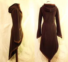 The perfect hooded cloak to keep the forest chills away.  Made to Order: Wrap Around Hippie Boho Psy by EuphoricGarments