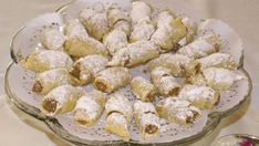 Nut Roll Cookies - These look very close to what my grandmother used to make. Cookie Desserts, Just Desserts, Cookie Recipes, Filled Cookies, Roll Cookies, Hungarian Nut Roll Recipe, Kiffles Recipe, Gourmet Recipes, Sweet Recipes