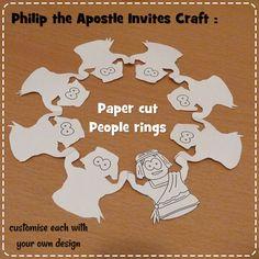 Paper cut people rings - Apostle Philip #Jesuswithoutlanguage