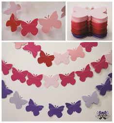 Guirnalda mariposas - Varios - Productos de Papel - 499063 Happy 50th Birthday, Birthday Cards, Butterfly Party, Baby Shower, Ideas Para Fiestas, Cool Baby Stuff, Origami, Decoupage, Garlands
