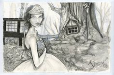 Buy A Stroll Through The Runaway Forest, a Pencil on Paper by Danny Roberts from…