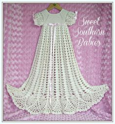 Baby Girl's Silk Christening Gown / Baptism by SweetSouthernBabies, $152.00