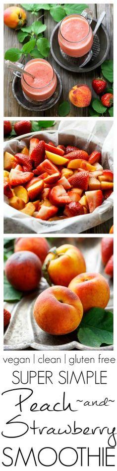 Super Simple Strawberry Peach Smoothie Super Simple Strawberry Peach SmoothieSuper Simple Strawberry Peach Smoothie Super Simple Strawberry Peach Smoothie