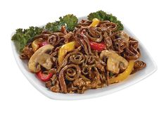 Fiddlehead Salad with Beef, Fried Onions, Champignon Mushrooms in Sesame Vinaigrette from #YummyMarket