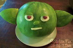 Yoda Melon [Watermelon Carving] ~ Be Different...Act Normal