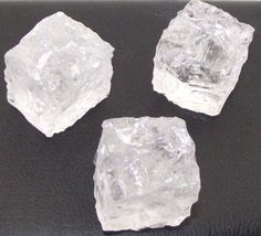 Carved Clear Quartz Ice Cube Shaped Gemstone