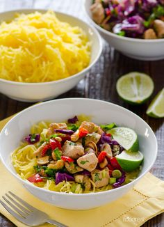 Thai Chicken Spaghetti Squash Bowl Recipe -