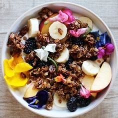 """Organic granola is made with rolled oats, raw agave syrup, cinnamon, raw pecans, pumpkin seeds, and hemp seeds. Your skin will be glowing with all the health packed """"good"""" oils in this granola."""