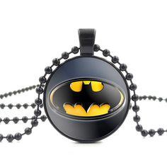 Batman Glass Pendant - free shipping worldwide