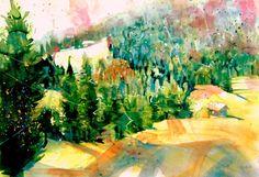 Richtung Obergail, Aquarell 2015, 38 x 56 cm