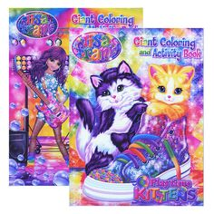 LISA FRANK Giant Coloring & Activity Book
