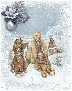 Vánoční obrázky třpyt 1 | vánoční blog Christmas Time, Merry Christmas, Blog, Winter, Movie Posters, Painting, European Countries, Czech Republic, Advent