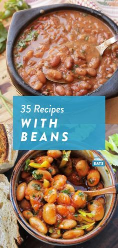 35 bean recipes for your heart. Vegetarian Dinners, Vegetarian Recipes, Mixed Bean Recipes, Celery Recipes, Veggie Main Dishes, Veg Soup, Recipe Mix, Serious Eats, Savoury Recipes