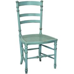 Swedish Cane Side Chair in Robin's Egg Blue design by Redford House (1,070 CAD) ❤ liked on Polyvore featuring home, furniture, chairs, dining chairs, painted chairs, swedish chairs, swedish furniture, painted furniture and cane furniture