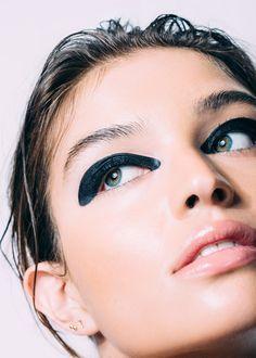 graphic black eyeliern Daniela Lopez Osorio by Ben Ritter