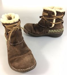 UGG Australia Womens 7 US Cove 5178 Brown Suede Sheepskin Ankle Boots  #UGGAustralia #SnowWinterBoots #Casual
