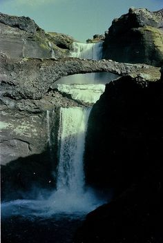 Ofaerufoss, Sept 1984 (1) by LoveIceland, via Flickr