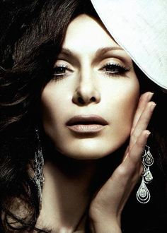 Despina Vandi Most Beautiful People, Mary Elizabeth, I Icon, Septum Ring, Celebs, Singer, Makeup, Ears, Music
