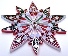 Christmas decoration Ecofriendly quilled  medium by VBPureDesigns, $10.89