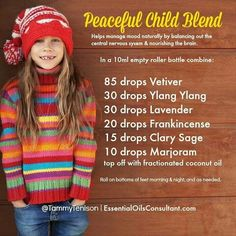 Peaceful Child Blend #doterra Go to http://mydoterra.com/cassandrahohmann to place your order of oils.
