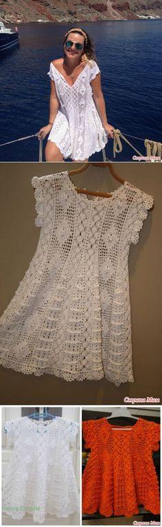 Tejer juntos un maravilloso vestido del bebé por Giovana Dias - Tejer juntos en línea - País mamá