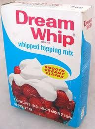Easy to keep in the cupboard to mix up. Safer to have around than cool whip, no one wanted to make this up just to eat it, Cool Whip? Just open and eat! MJ